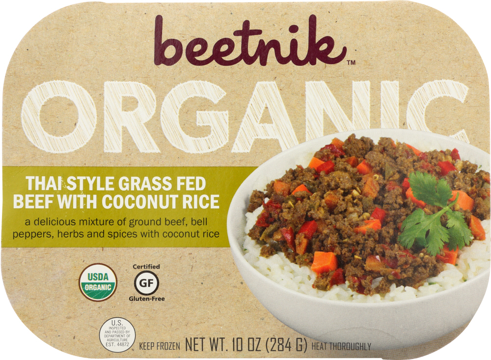 Beetnik Foods KHFM00256365 Thai Grass Fed Beef with Coconut Rice - 10 oz