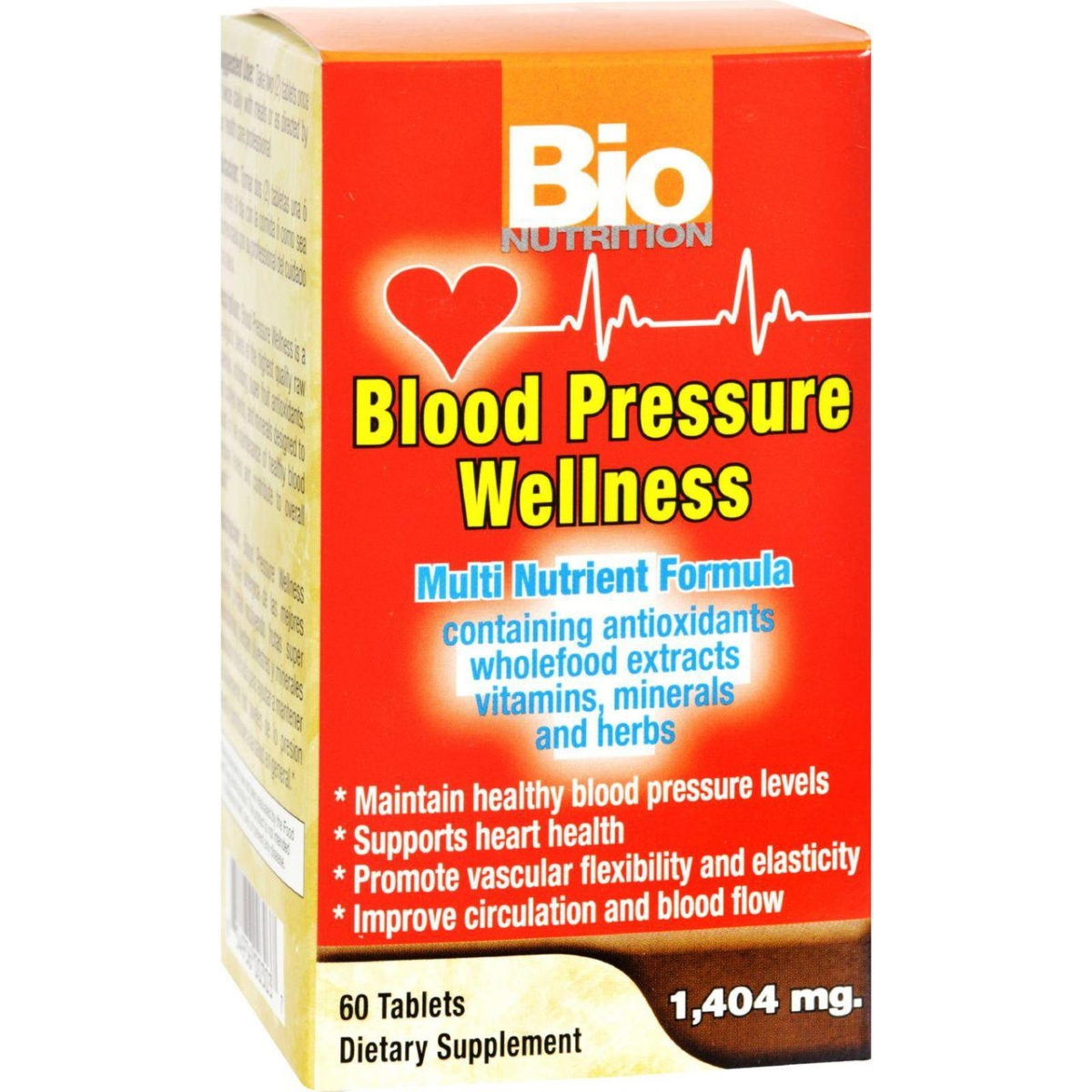 Bio Nutrition HG1029545 Blood Pressure Wellness - 60 Tablets