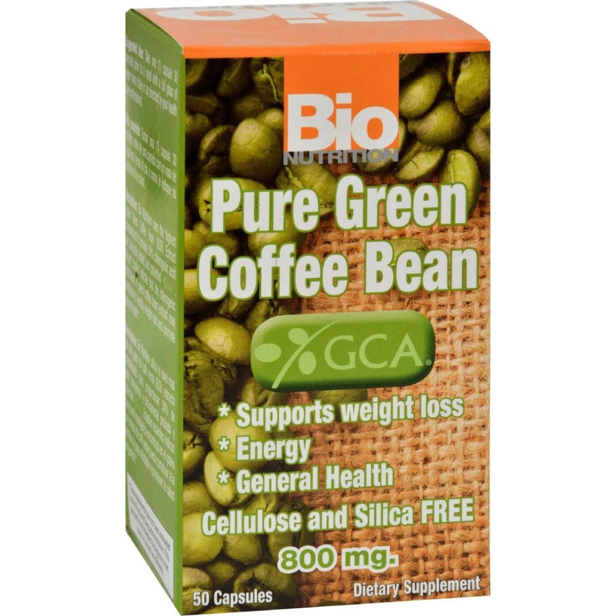 Bio Nutrition HG1143668 Pure Green Coffee Bean - 50 Gelcaps