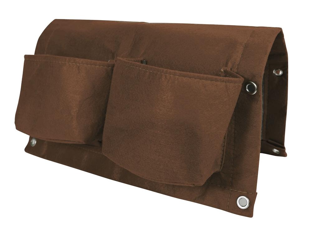 Bloem OTR2-45 BloemBagz Deck Rail 4-Pocket Hanging Planter Bag Chocolate