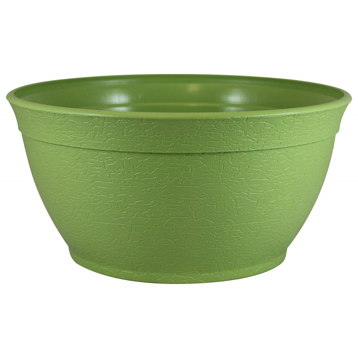 Bloomers 2449-1 24 in. Railing Planter with Drainage Holes &Weatherproof Resin Planter - Sage Green fl.oz