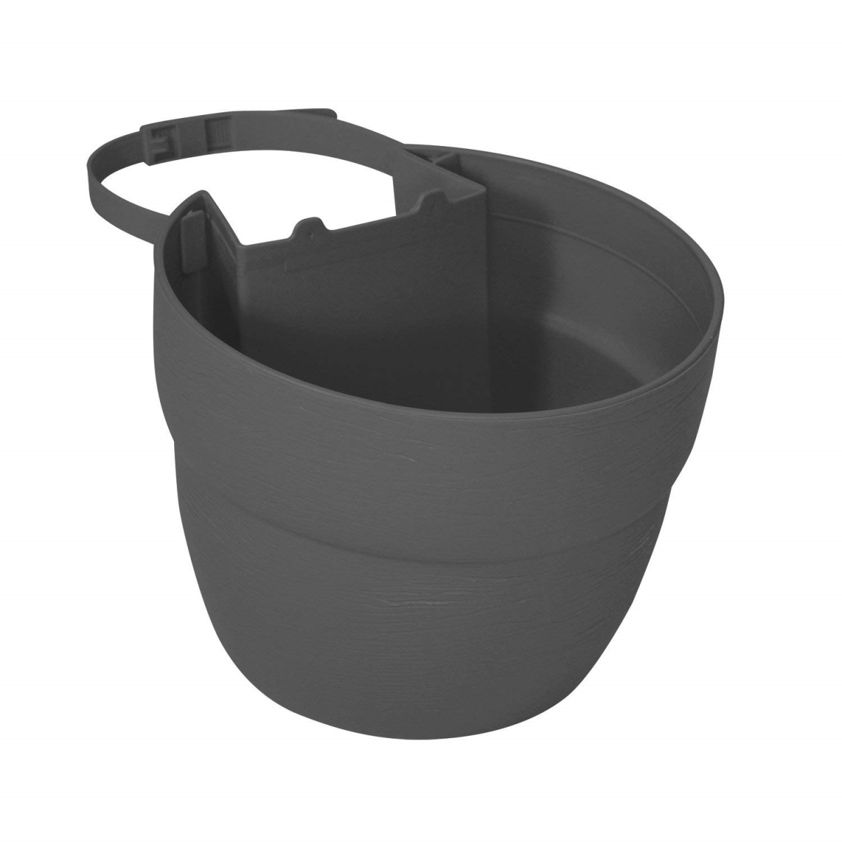 Bloomers 2466-1 Post Planter Both Permanent and Temporary Installation Options Garden in Untraditional Spaces - Slate