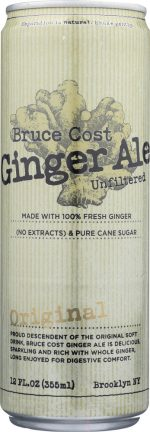 Bruce Cost Ginger Ale KHFM00281068 Ginger Ale Unfiltered Original Can - 12 oz