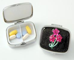 Budd Leather 181799-42 Secret Garden Rectangular Pill Box