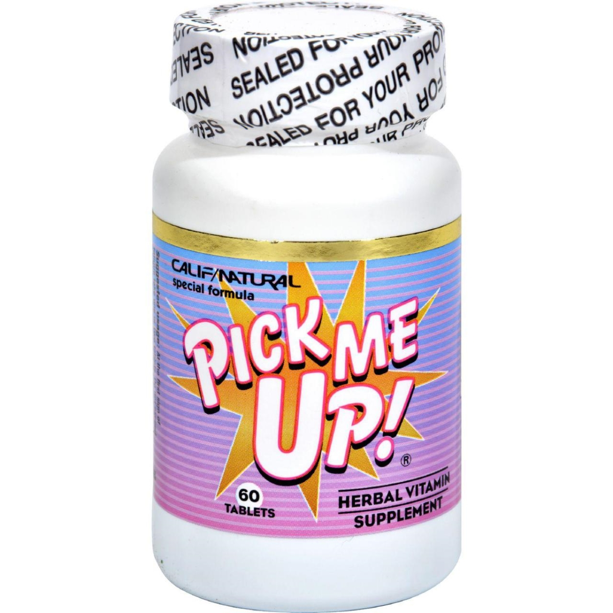 California Natural HG0607515 Pick Me Up Vitamin - 60 Capsules