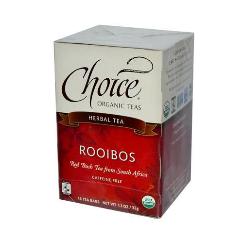 Choice Organic Teas 849034 Choice Organic Teas Rooibos Red Bush Tea - 16 Tea Bags - Case of 6