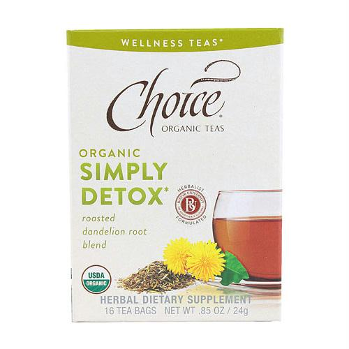 Choice Organic Teas - Organic Simply Detox Tea - 16 Bags - Case of 6 - 1256940