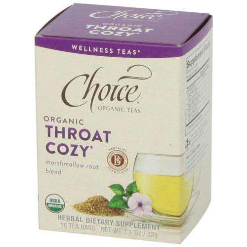 Choice Organic Teas - Organic Throat Cozy Tea - 16 Bags - Case of 6 - 1256957