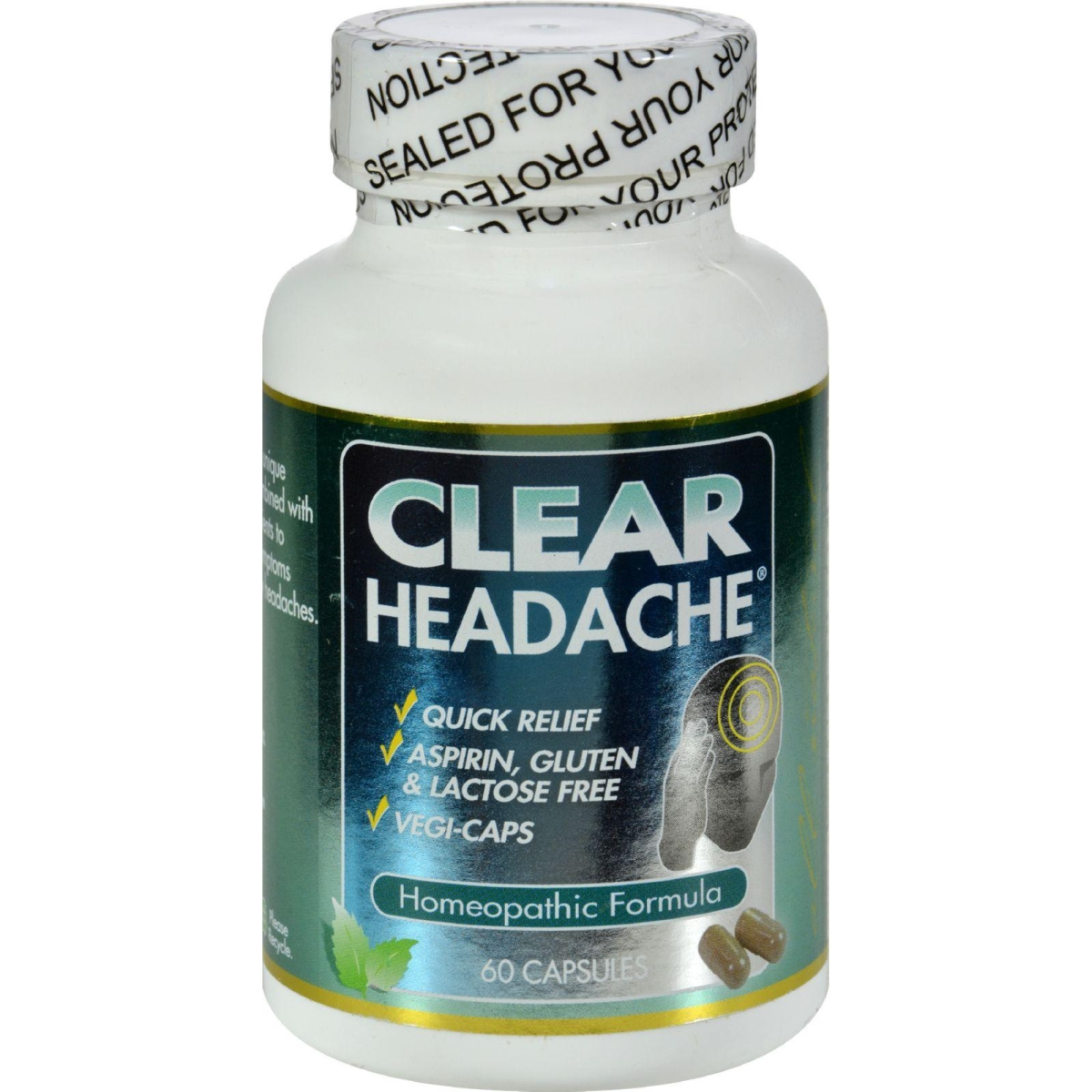 Clear Products HG0408831 Clear Headache - 60 Capsules