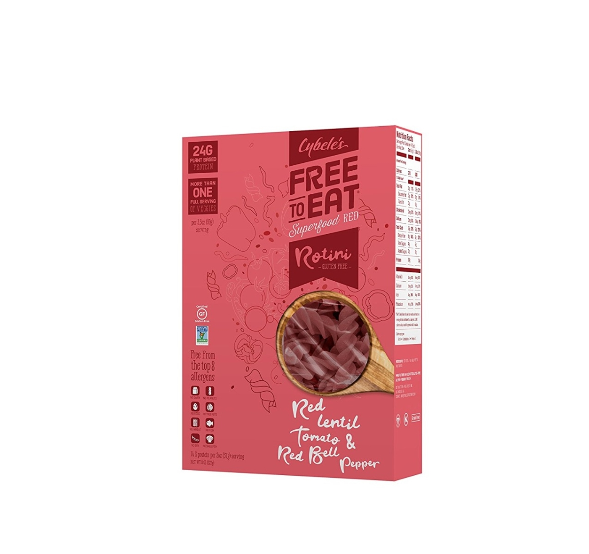 Cybeles Superfood Pasta KHFM00307940 Superfood Red Pasta - 8 oz