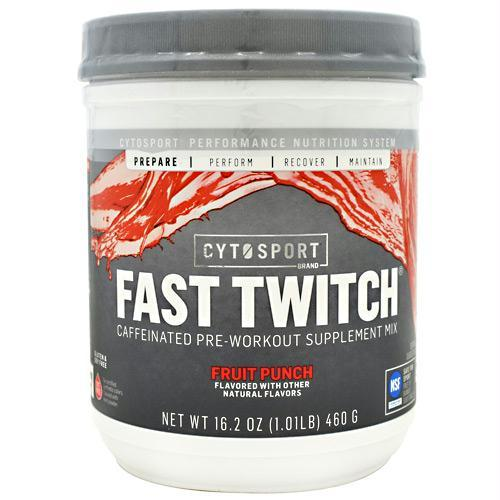 Cytosport 400684 16.2 oz Fast Twitch Fruit Punch - 20 Servings