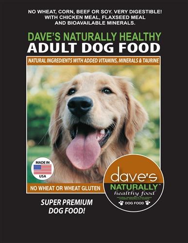 Daves Pet Food 685038113078 18 lbs Naturally Healthy Adult Dog Food