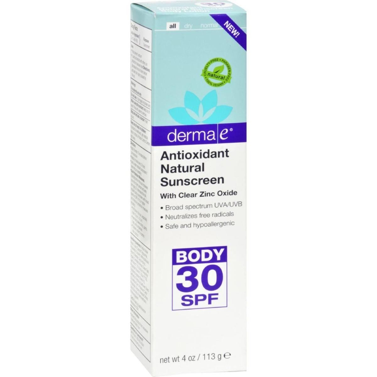 Derma E HG1513621 4 oz Body Antioxidant Sunscreen