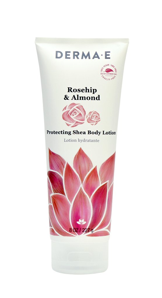 Derma E Natural Skincare 158076 8oz Rosehip & Almond Protecting Shea Body Lotion - Case of 6
