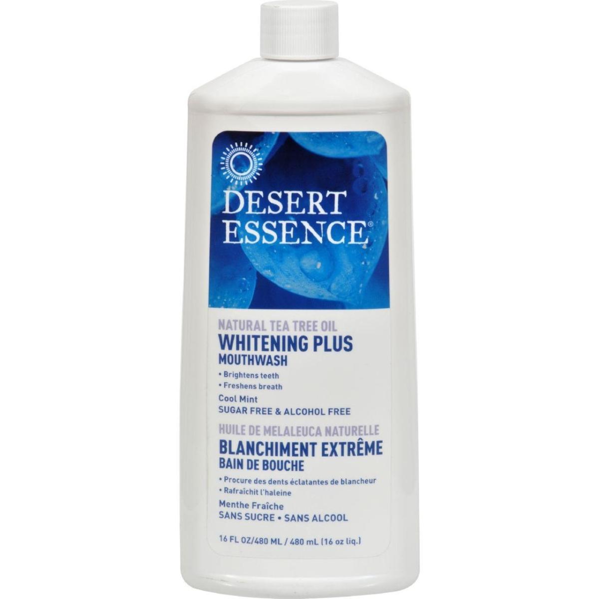 Desert Essence HG1246560 16 fl oz Tea Tree Whitening Mint Mouthwash