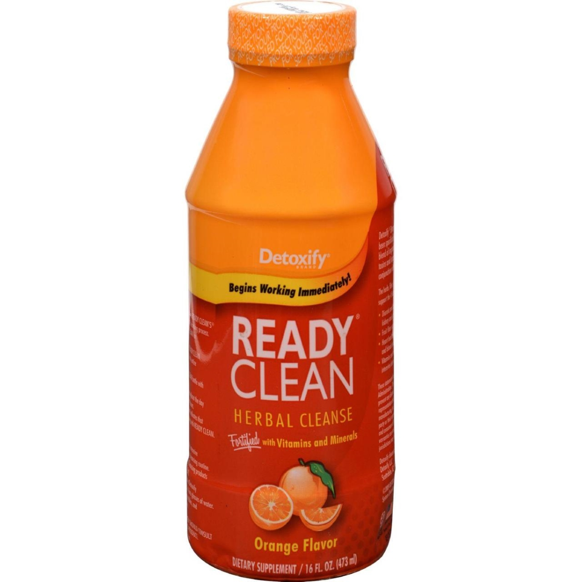 Detoxify HG0428490 16 oz One Source Ready Clean Herbal Cleanse Orange Flavor