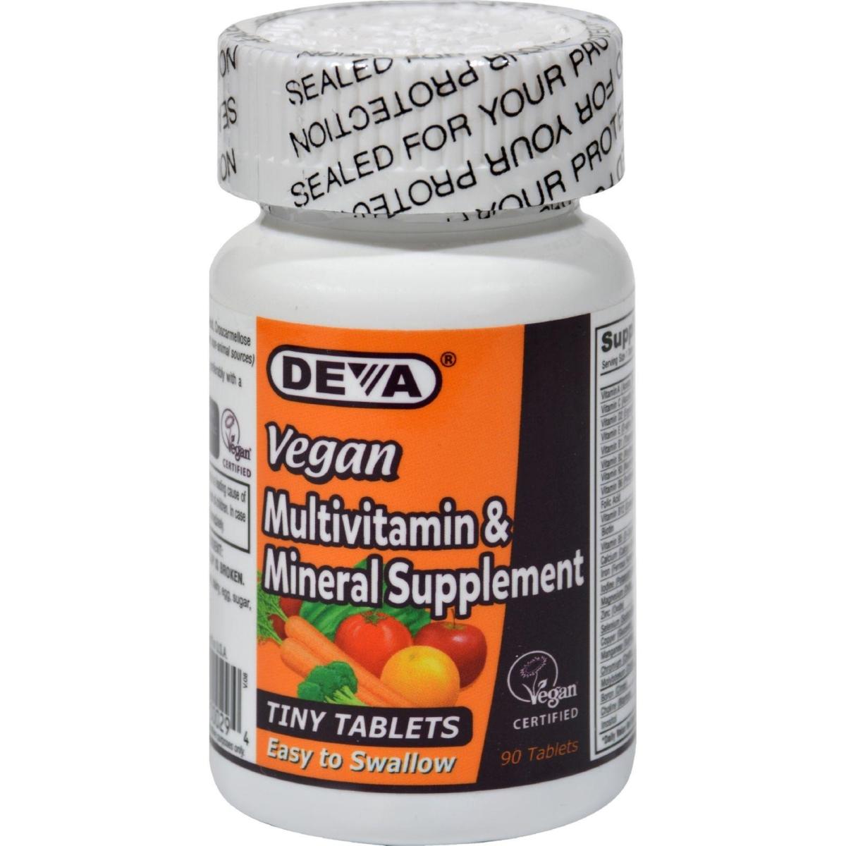 Deva Vegan Vitamins HG0684209 Multivitamin & Mineral Supplement 90 Tiny Tablets