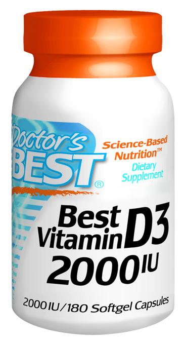 Doctors Best D210 Vitamin D3 2000IU 180 SFG