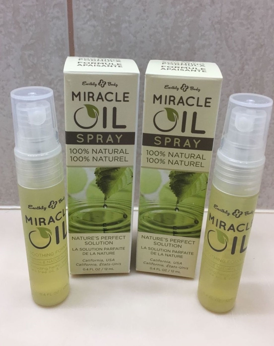 Earthly Body 1737503 0.4 oz Miracle Oil On The Go Mini Spray