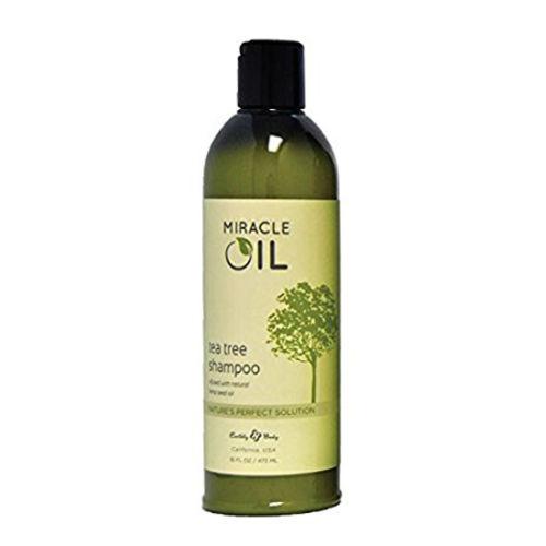 Earthly Body 1737694 16 oz Miracle Oil Tea Tree Shampoo Natural Hemp Seed Oil