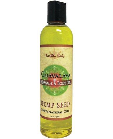 Earthly Body 1738011 8 oz Guavalava Hemp Seed Body & Massage Oil