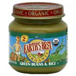 Earths Best Baby Foods BG12466 Earths Best Baby Foods Baby Green Bn-Rice - 12x4OZ