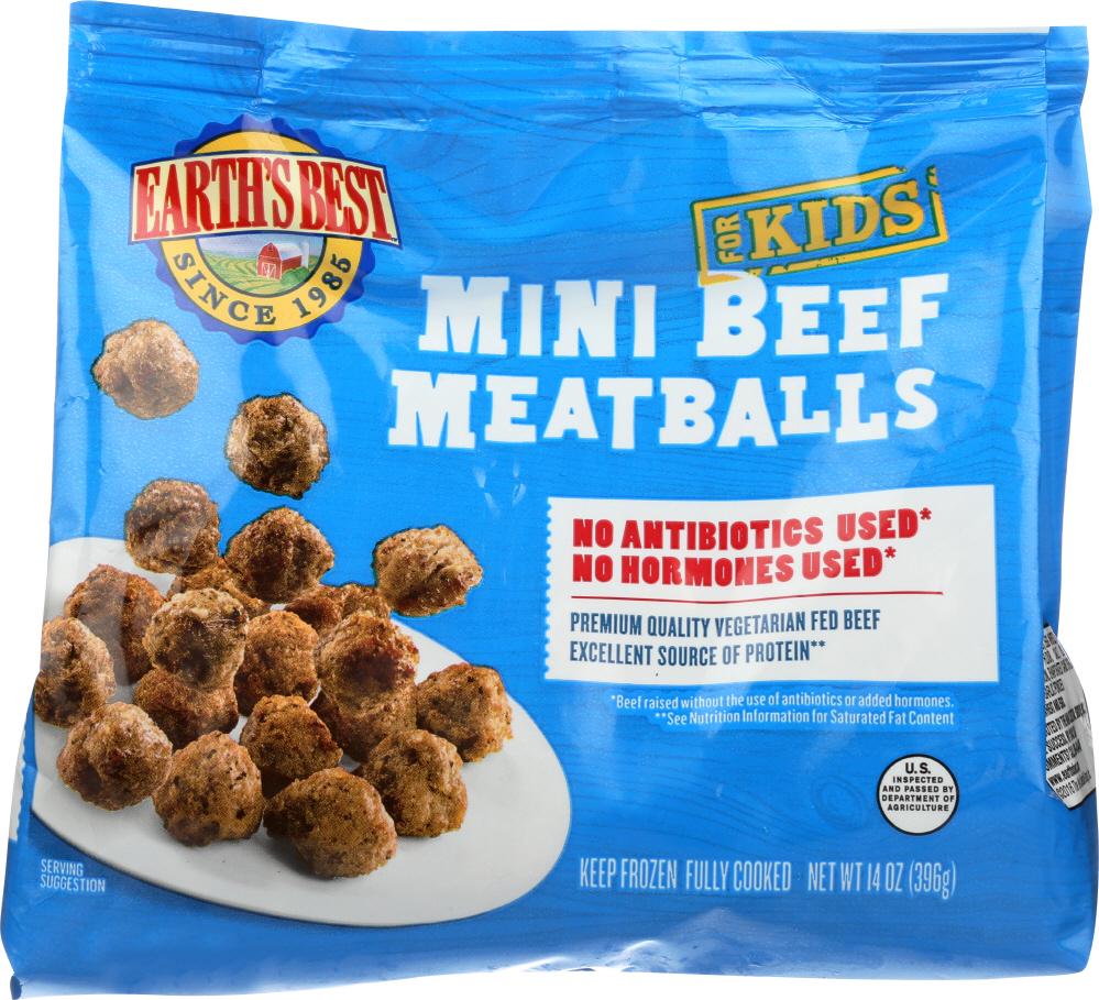 Earths Best KHFM00978569 Fr ozen Baked Beef Mini Meatballs - 14 oz