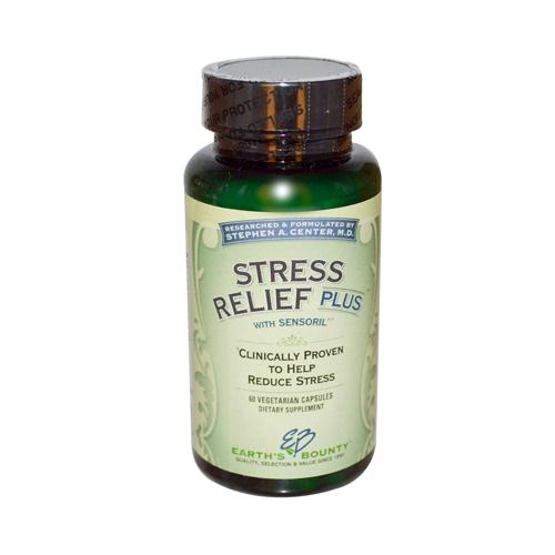 Earths Bounty HG1215508 Stress Relief Plus - 60 Vcaps