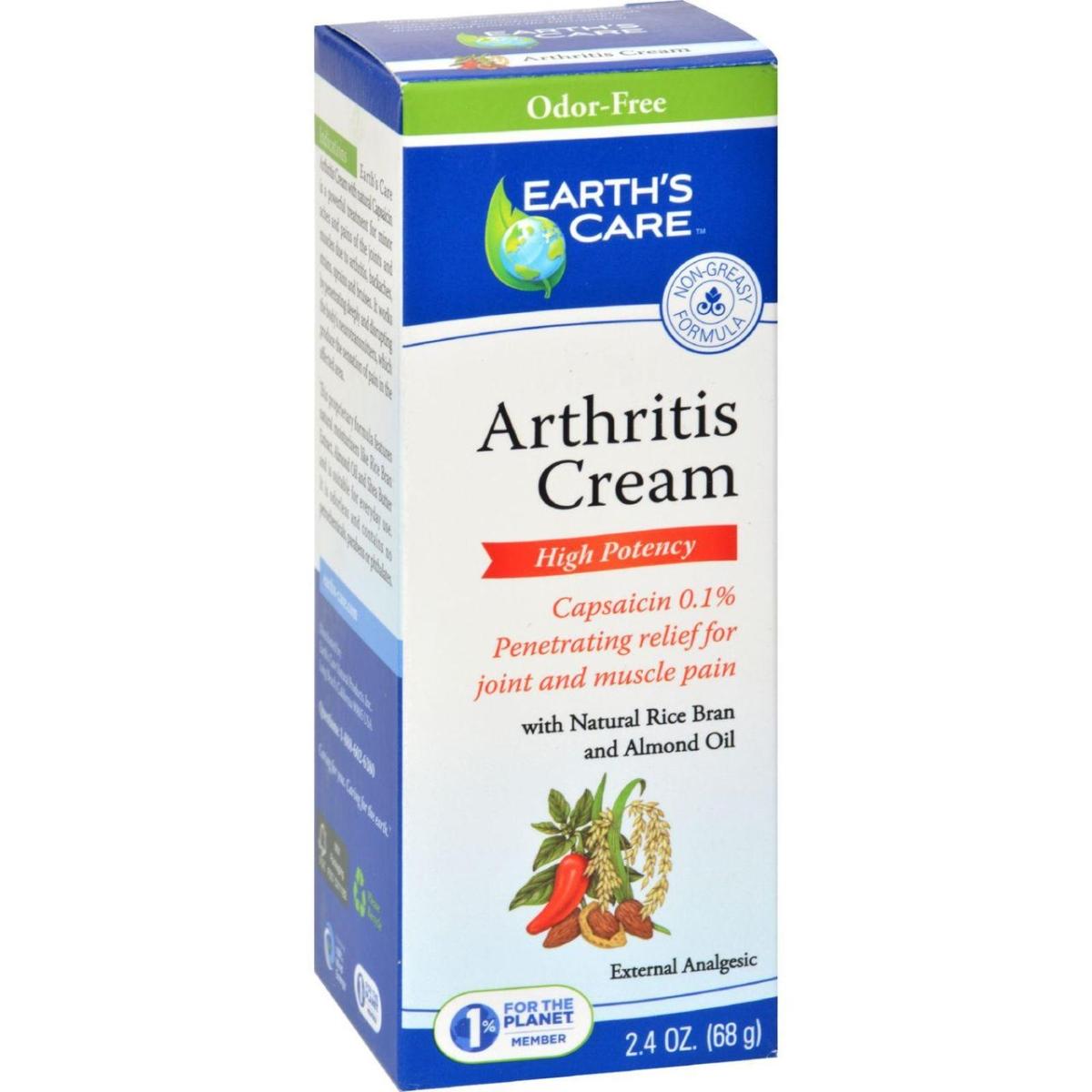 Earths Care HG1216274 2.4 oz Arthritis Cream