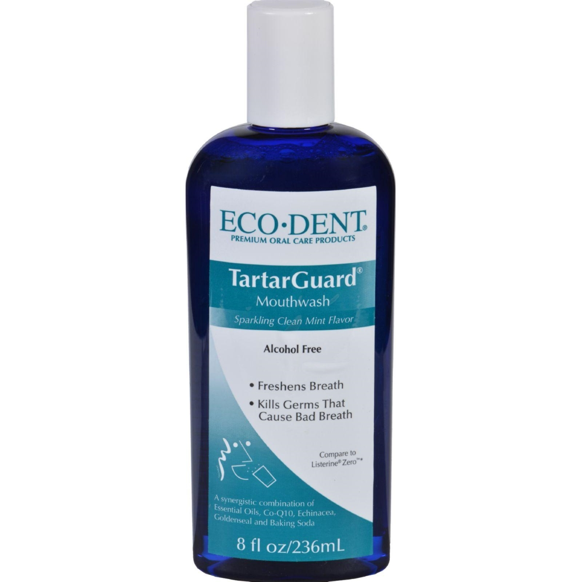 Eco-dent HG1685122 8 oz Premium Oral Care Mouthwash Tartarguard