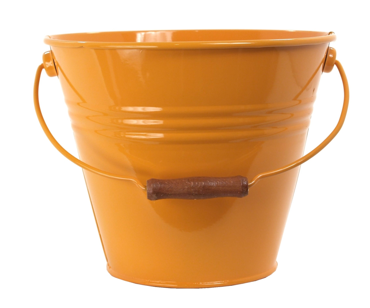 Enameled Galvanized Fun Pail Saffron