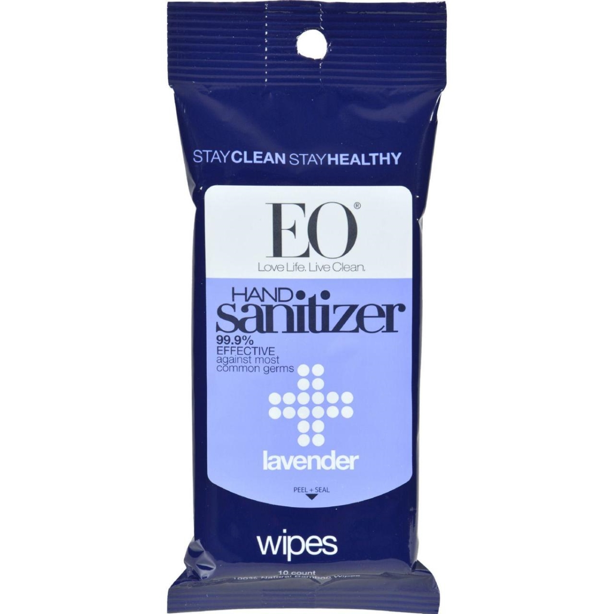 Eo Products HG0577320 Hand Sanitizer Wipes Display Center Lavender - Case of 6 Pack of 10