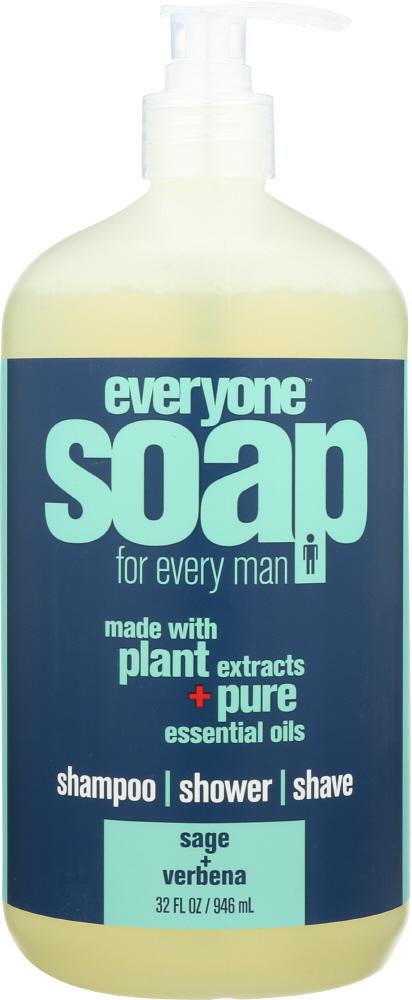 Everyone KHFM00319076 MenS Soap Lemon Verbena Sage - 32 oz