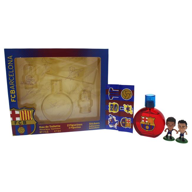 FC Barcelona M-GS-3283 Men EDT Spray 2 Figurines & Stickers Gift Set - 4 Piece