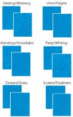 Fiskars 5659 Texture Plate Double-Sided Assortment II 6/Pkg