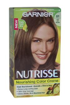 Garnier U-HC-4306 Nutrisse Nourishing Color Creme No. 61 Light Ash Brown - 1 Application - Hair Color