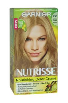 Garnier U-HC-4309 Nutrisse Nourishing Color Creme No. 80 Medium Natural Blonde - 1 Application - Hair Color