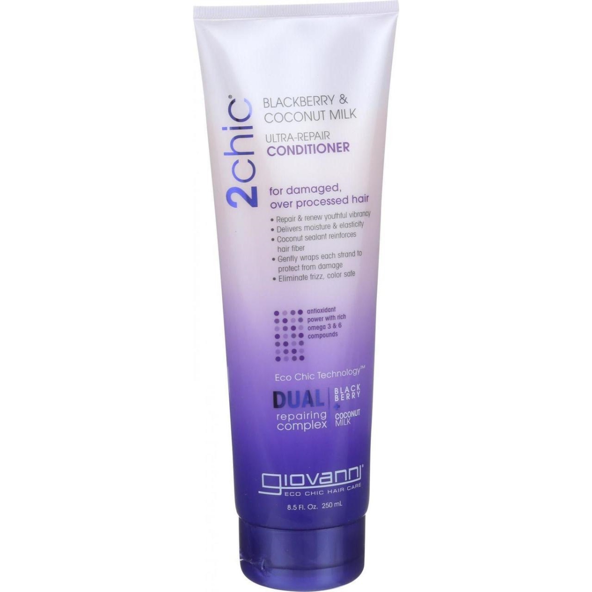 Giovanni Hair Care Products HG1626712 8.5 oz Conditioner 2chic Ultra Repair - Blackberry & Coconut Milk