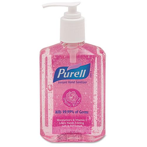 Go-Jo Industries 301412EA Spring Bloom Instant Hand Sanitizer 8oz Pump Bottle Pink