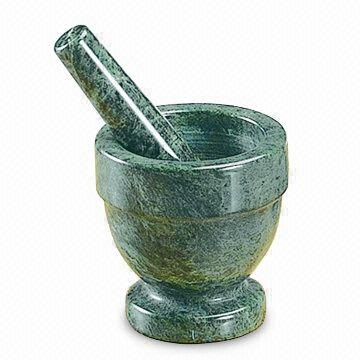 Green Marble 4 in. X 4 in. Mortar & Pestle