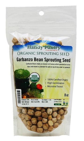 Handy Pantry G-8OZ 8 oz Garbanzo Sprouting Seeds