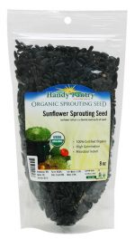 Handy Pantry SUN-60 8 oz Sunflower Sprouting Seeds