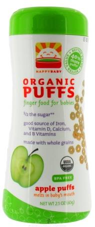 Happy Baby 39042 Organic Apple Puffs