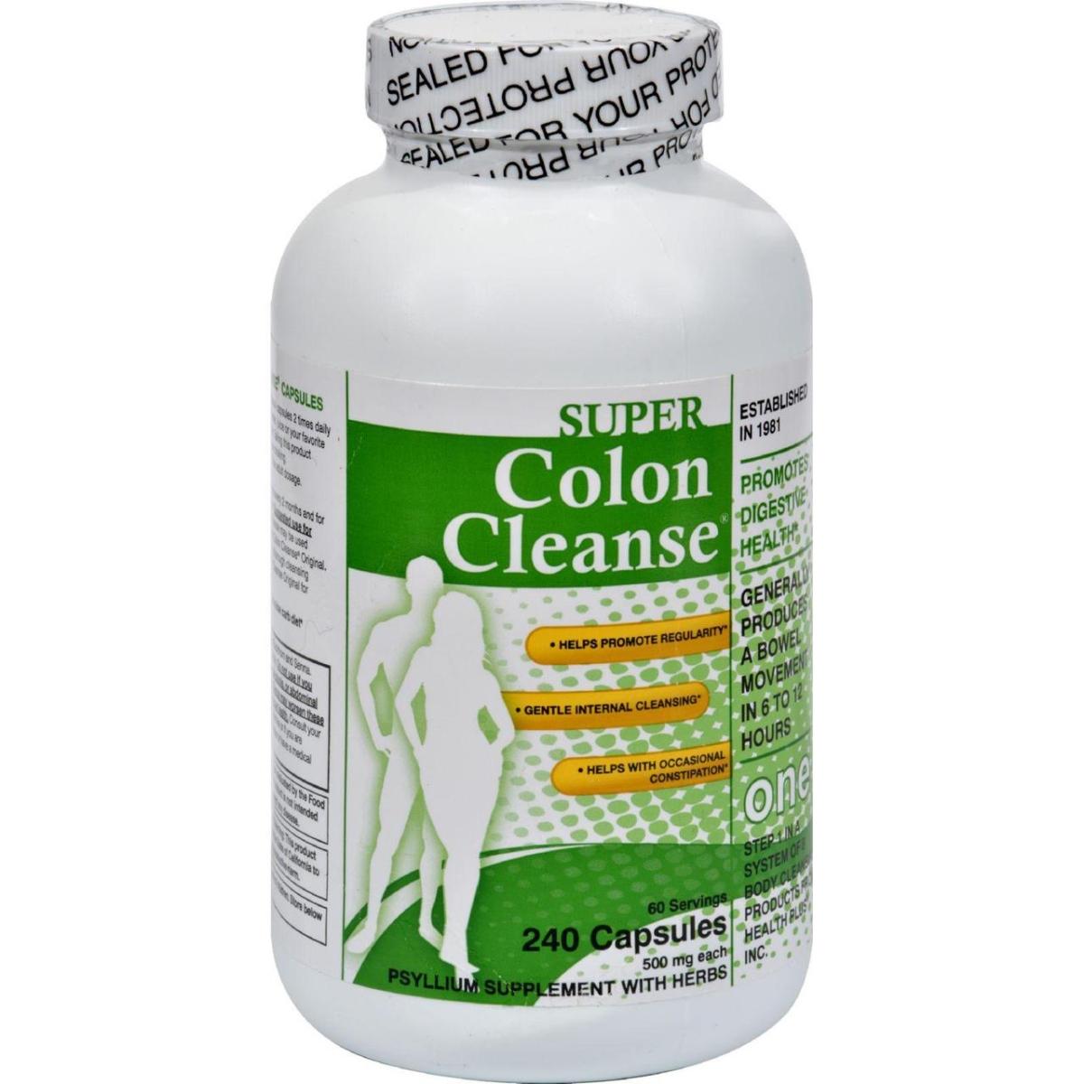 Health Plus HG0276642 500 mg Super Colon Cleanse - 240 Capsules