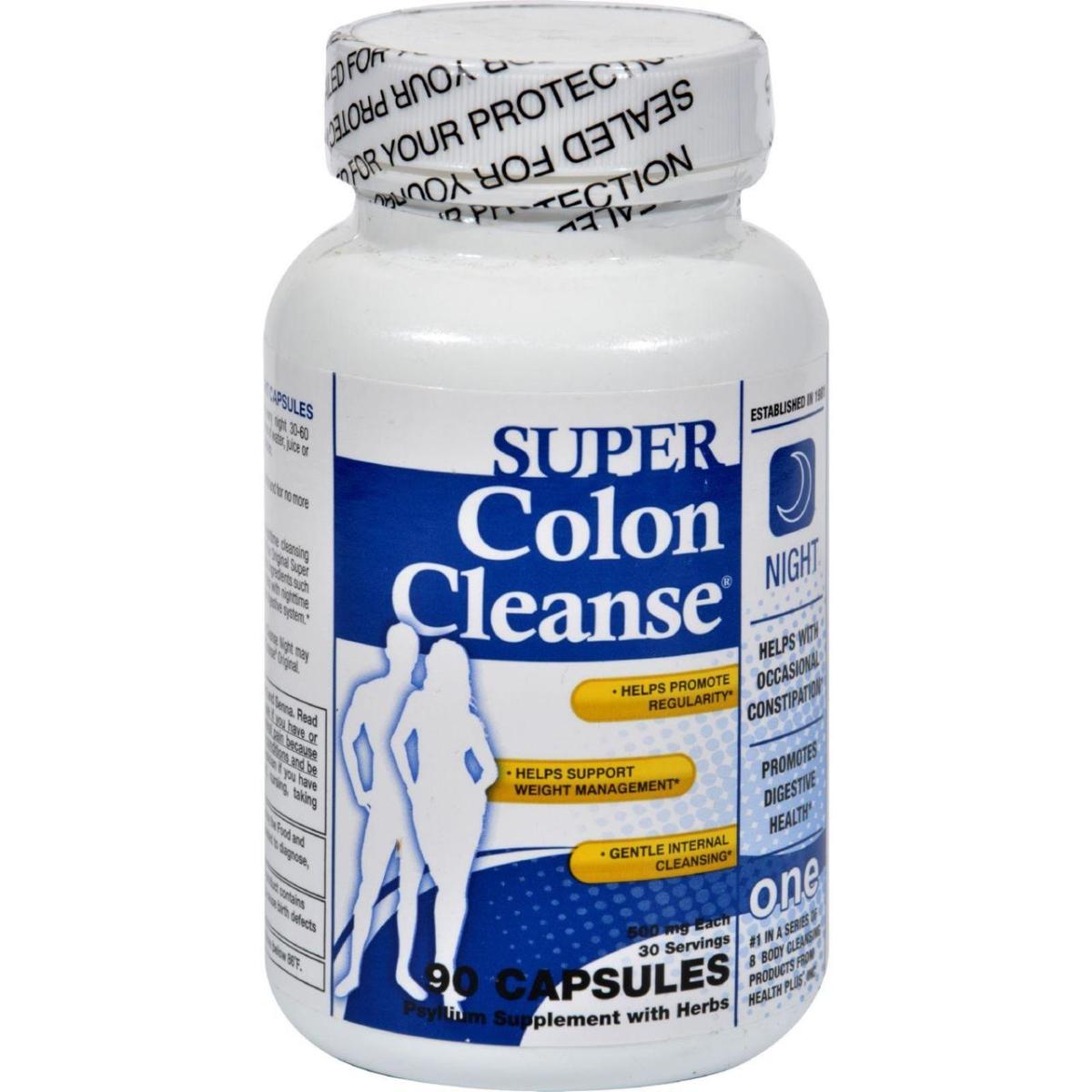 Health Plus HG0528679 Super Colon Cleanse Night Formula - 90 Capsules