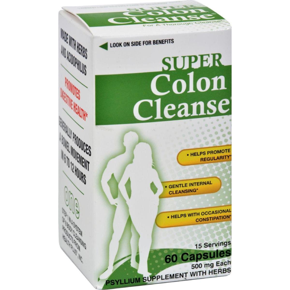 Health Plus HG0560342 Super Colon Cleanse - 60 Capsules