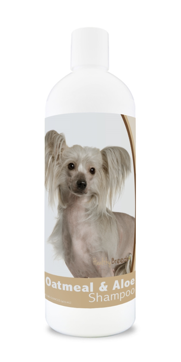 Healthy Breeds 840235105305 16 oz Chinese Crested Oatmeal Shampoo with Aloe
