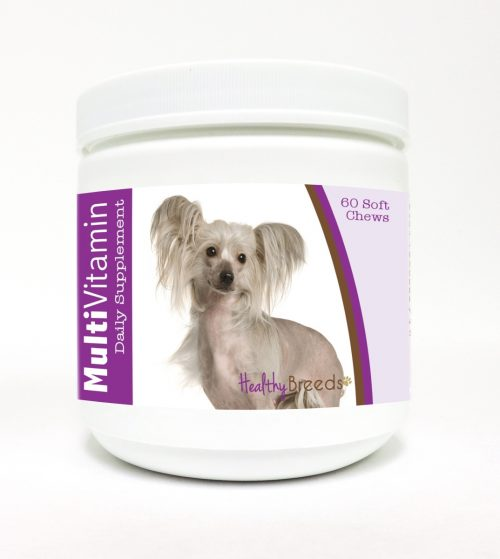 Healthy Breeds 840235105381 Chinese Crested Multi-Vitamin Soft Chews - 60 Count