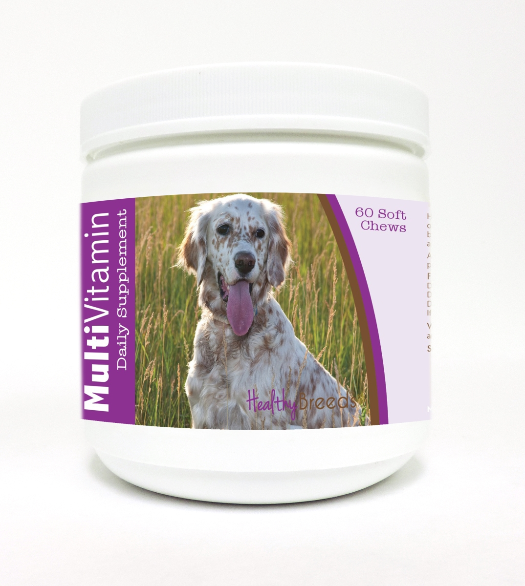 Healthy Breeds 840235106753 English Setter Multi-Vitamin Soft Chews - 60 Count
