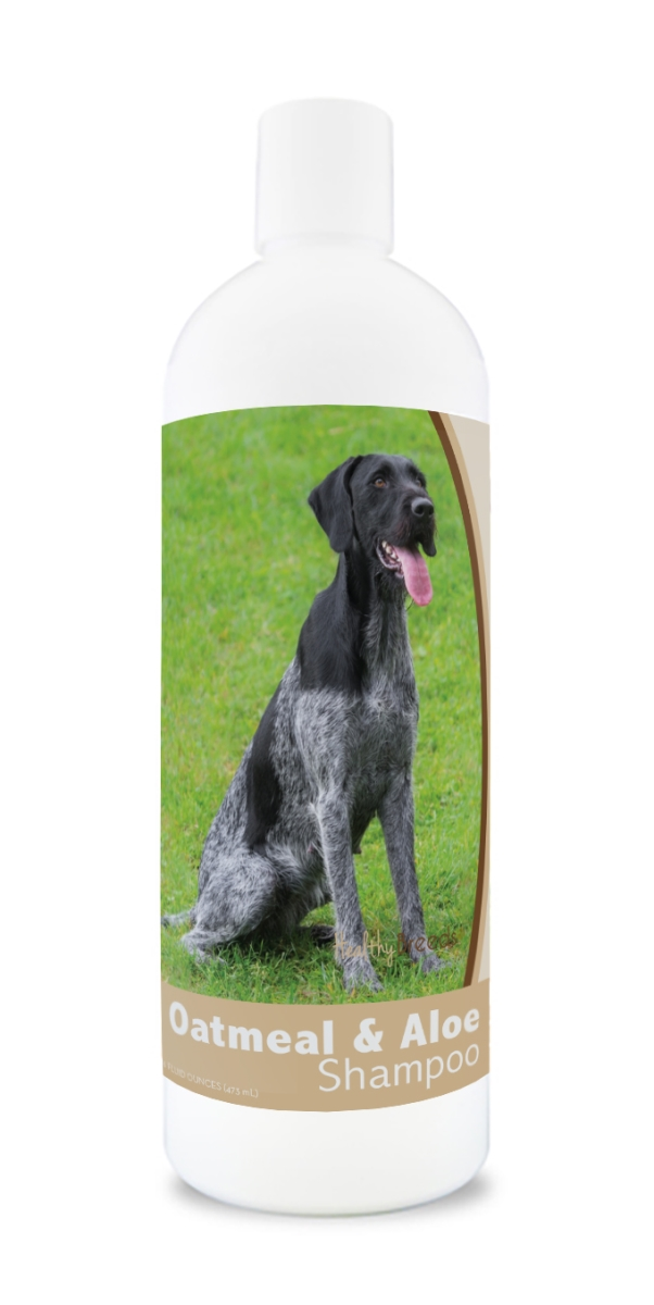 Healthy Breeds 840235107538 16 oz German Wirehaired Pointer Oatmeal Shampoo with Aloe